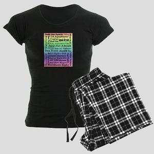 Vintage Scuba Collection Women's Dark Pajamas
