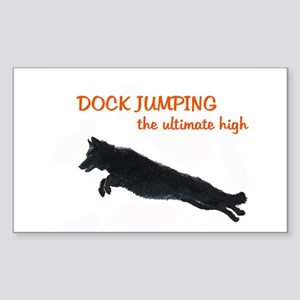 dock jumper Sticker (Rectangle)