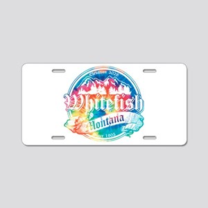Whitefish Old Circle 2 Aluminum License Plate