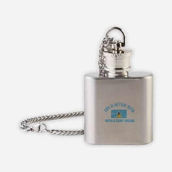 saint lucian designs Flask Necklace
