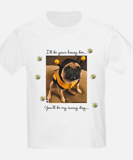 Honey Bee-Pug-T-Shirt