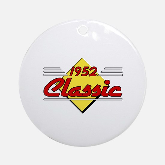 Classic 1952 Sign Ornament (Round)