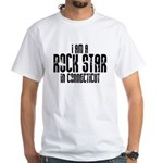 Rock Star In Connecticut White T-Shirt