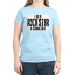 Rock Star In Connecticut Women's Pink T-Shirt