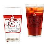 Warning / Spacecraft Drinking Glass