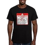 Warning / Spacecraft Men's Fitted T-Shirt (dark)