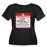 Warning / Spacecraft Women's Plus Size Scoop Neck