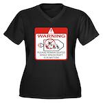 Warning / Spacecraft Women's Plus Size V-Neck Dark