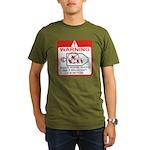 Warning / Spacecraft Organic Men's T-Shirt (dark)