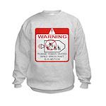 Warning / Spacecraft Kids Sweatshirt
