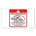 Warning / Spacecraft Sticker (Rectangle)