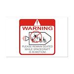 Warning / Spacecraft Mini Poster Print