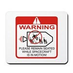 Warning / Spacecraft Mousepad