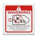 Warning / Spacecraft Tile Coaster