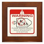 Warning / Spacecraft Framed Tile