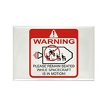 Warning / Spacecraft Rectangle Magnet (100 pack)