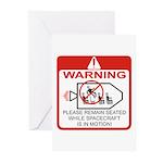 Warning / Spacecraft Greeting Cards (Pk of 20)