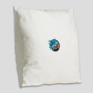 Florida - Haulover Park Burlap Throw Pillow