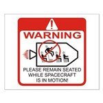 Warning / Spacecraft Small Poster