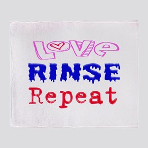 Love, Rinse, Repeat Throw Blanket