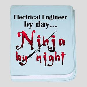 Electrical Engineer Ninja baby blanket