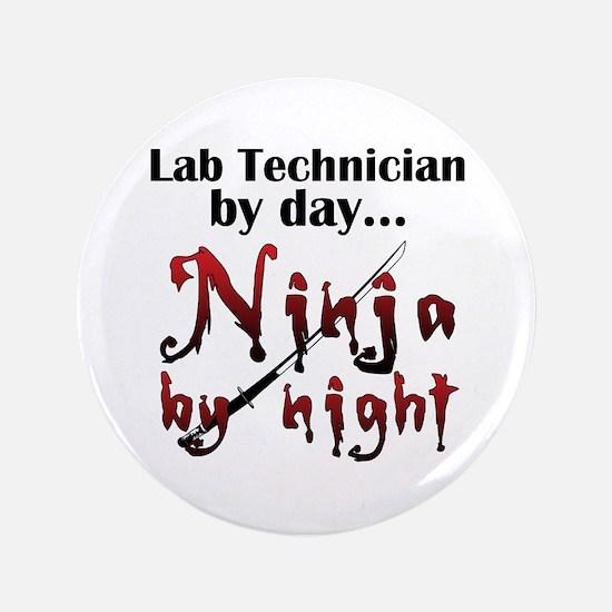 """Lab Technician Ninja 3.5"""" Button"""