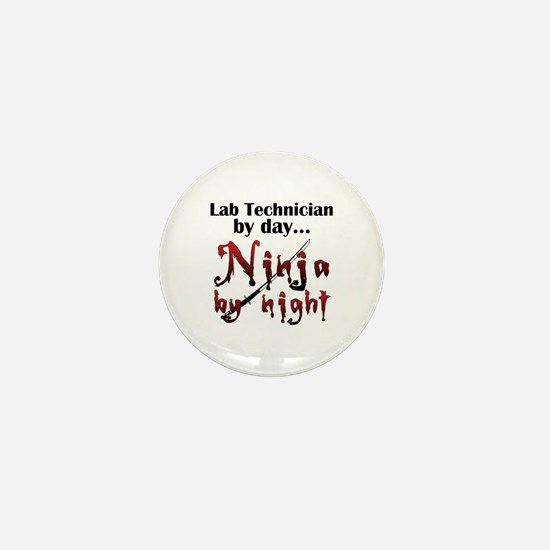 Lab Technician Ninja Mini Button