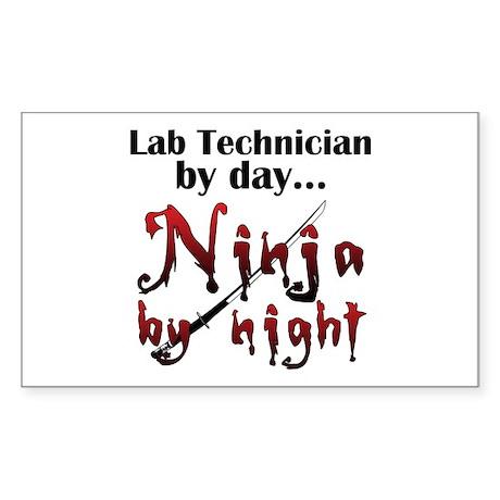 Lab Technician Ninja Sticker (Rectangle)