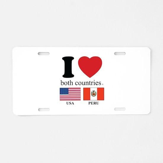 USA-PERU Aluminum License Plate