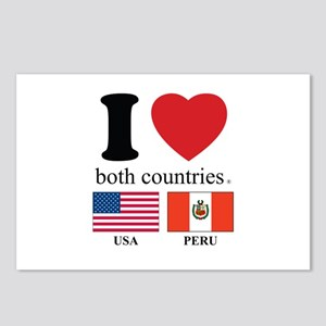 USA-PERU Postcards (Package of 8)