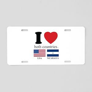 USA-NICARAGUA Aluminum License Plate