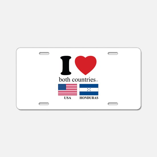 USA-HOUNDURAS Aluminum License Plate