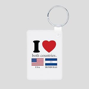 USA-HOUNDURAS Aluminum Photo Keychain
