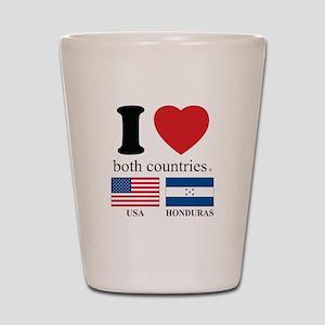 USA-HOUNDURAS Shot Glass