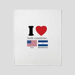 USA-HOUNDURAS Throw Blanket