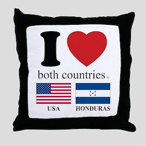 USA-HOUNDURAS Throw Pillow