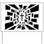 Christian Cross Yard Sign