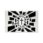 Christian Cross Rectangle Magnet