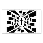 Christian Cross Sticker (Rectangle 10 pk)