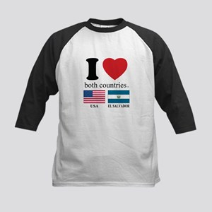 USA-EL SALVADOR Kids Baseball Jersey