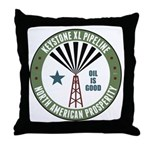 Keystone XL Pipeline Throw Pillow