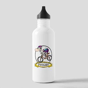 WORLDS GREATEST CYCLIST MEN CARTOON Stainless Wate
