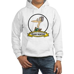 WORLDS GREATEST CRANKY PRINCIPAL CARTOON Hoodie