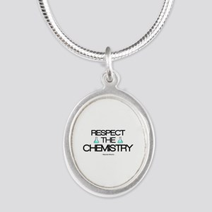 'Respect the Chemistry' Silver Oval Necklace
