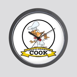 WORLDS GREATEST COOK CARTOON Wall Clock