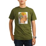 Organic Men's T-Shirt (dark), A picture of good he