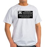 Light T-Shirt, Rated R
