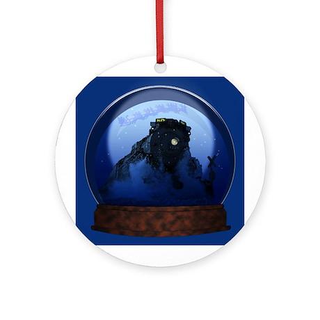 Pere Marquette 1225 Snow-globe Picture Ornament