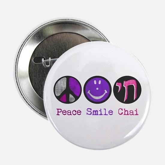 """Peace Smile Chai 2.25"""" Button"""