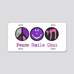 Peace Smile Chai Aluminum License Plate
